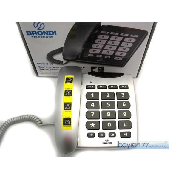 BRAVO 10 TELEFONO GRANDI TASTI