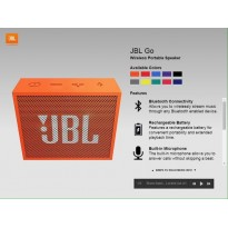 JBL GO SPEAKER WIRELESS BLUETOOTH PORTATILE
