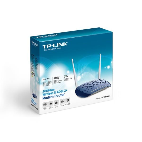 TP-LINK TD-W8960N MODEM ROUTER WIRL. ADSL2+