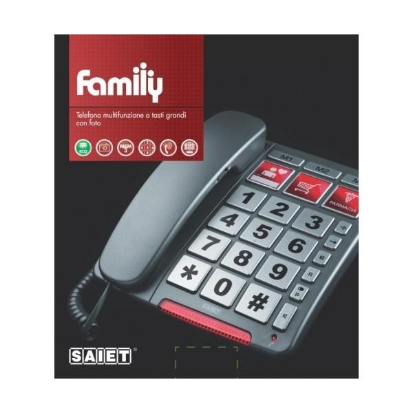 SAIET FAMILY TELEFONO BIG +MEMORIE DIRETTE