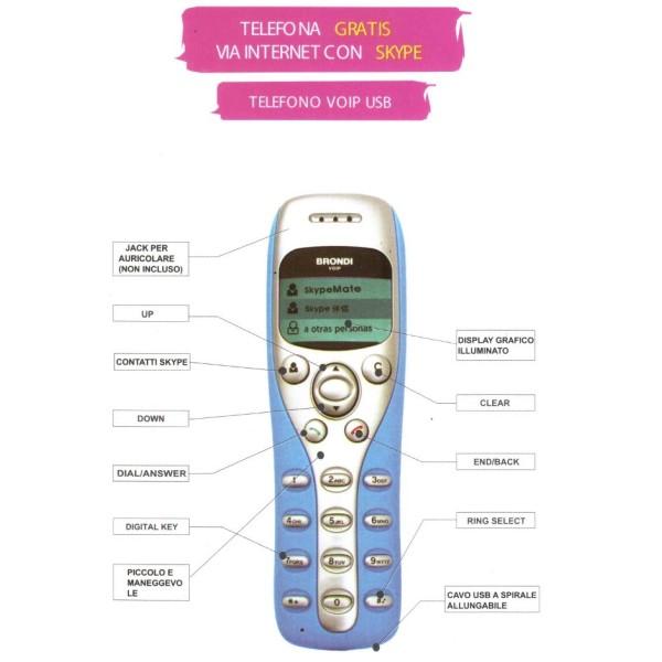 BRONDI VOIP-5 USB PHONE SKYPE