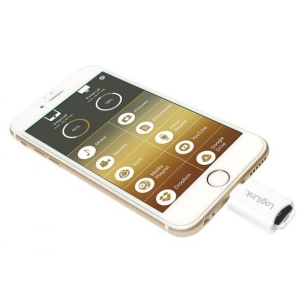 iCard READER LETTORE microSD Apple Lightning LOGILINK