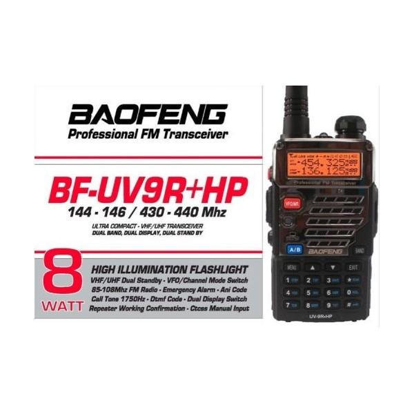 BAOFENG  UV-9R+ HP2 8W BiBANDA VHF UHF