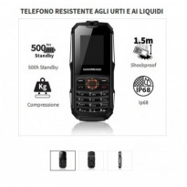 NORDMENDE RUG50B Rugged PHONE GSM DualSIM IP67