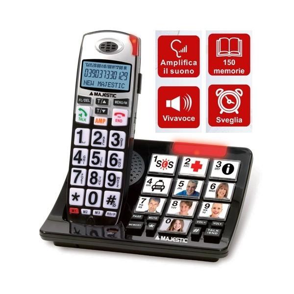 MAJESTIC CHARLY 301 TELEFONO CORDLESS TASTI GRANDI