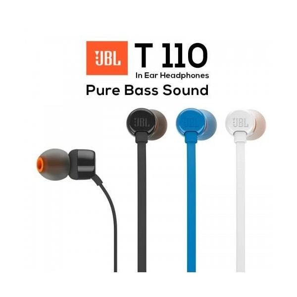 AURICOLARE JBL T110 IN EAR STEREO +MICROFONO