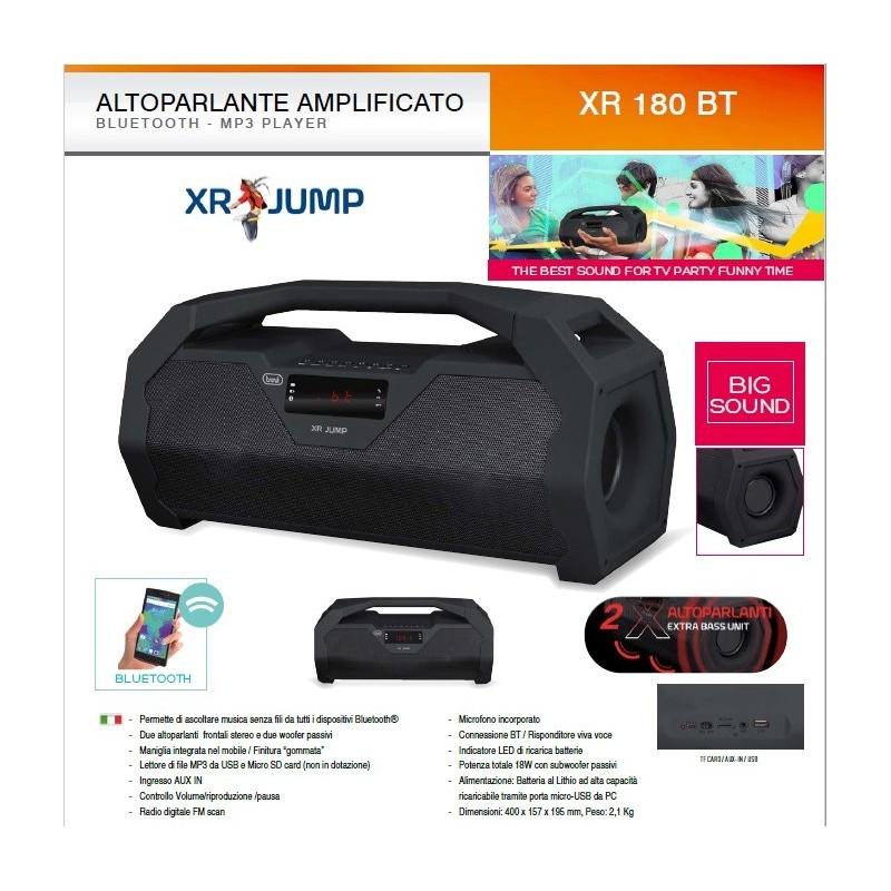 TREVI XR JUMP 180 BLUETOOTH DIGITAL SPEAKER 18W XR180BT - Global Phone San  Marino