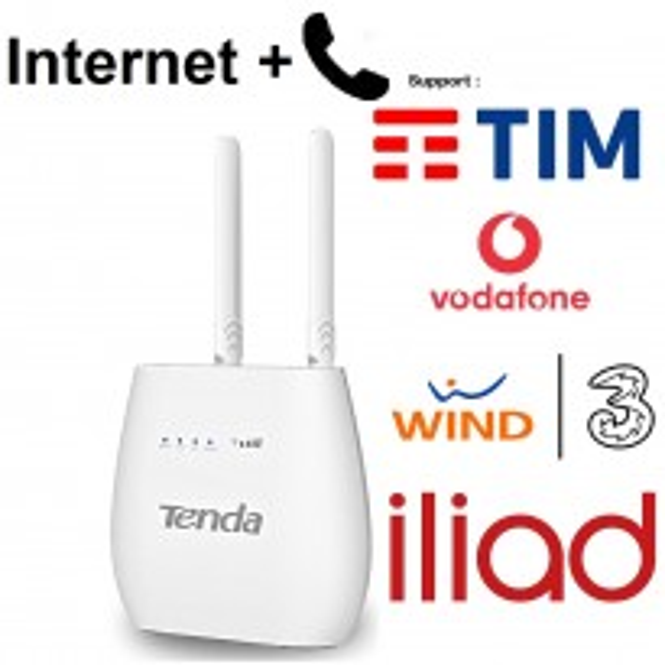TENDA 4G680v2 MODEM ROUTER WiFi 4G LTE +CHIAMATE VOCE