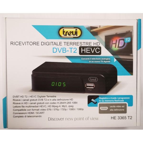 TREVI HE 3365 T2 MINI DECODER DIGITALE TERRESTRE DVBT-T2