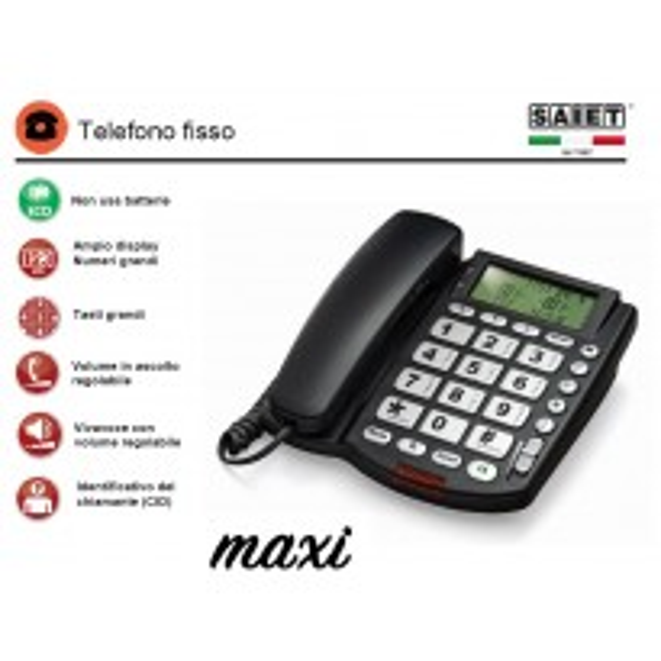 SAIET MAXI TELEFONO GRANDI TASTI E DISPLAY