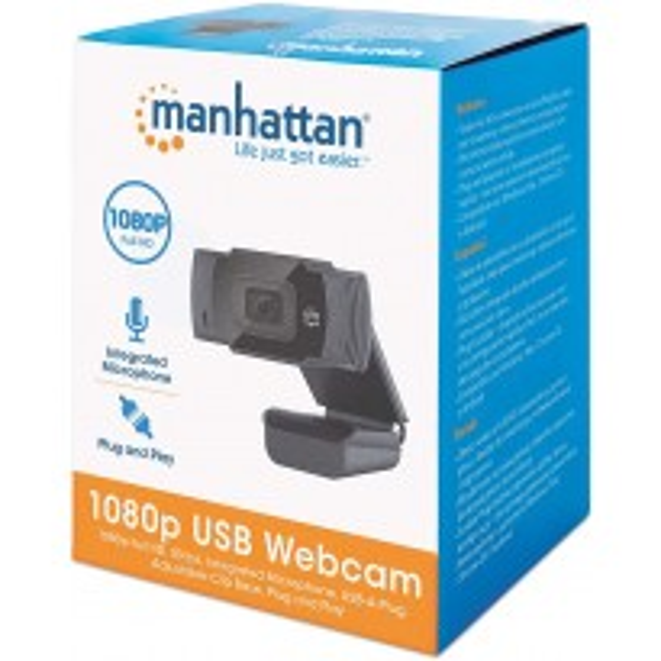 WEBCAM Manhattan Full HD 1080p MICROFONO 2MP 462006