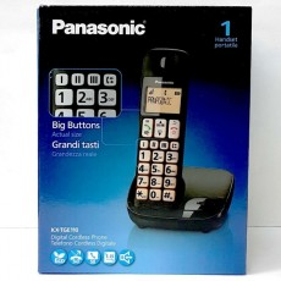 PANASONIC KX-TGE110 CORDLESS GRANDI TASTI BIG